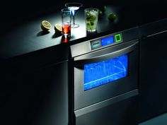 Undercounter UC Series with glass door and striking blue interior lighting. Commercial Ovens, Glass Door, Interior Lighting, Kitchen Waste, Commercial Dishwasher, Cleaning Chemicals, Glass, Blue Interior, Double Wall Oven