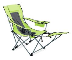 heavy duty nylon reinforced folding camping chair with footrest