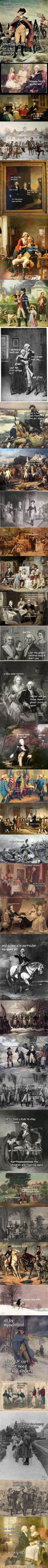 Old Paintings Make So Much More Sense With Subtitles Part II – Life Of George - 9GAG