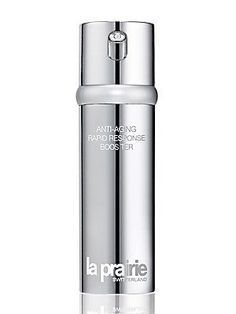 La Prairie Anti-Aging Rapid Response Booster/1.7 oz. This has smaller sized hylauronic acid molecules that can actually PENETRATE the skin (larger cannot)