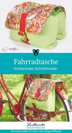 Large bike bag- Große Fahrradtasche Bicycle bag sewing free sewing pattern free instructions idea sewing idea gift gift idea freebie freebook bag for bike wheel - Sewing Machine Projects, Baby Sewing Projects, Sewing Projects For Beginners, Sewing Tutorials, Sewing Tips, Bag Tutorials, Sewing Hacks, Bag Sewing, Sewing Kids Clothes