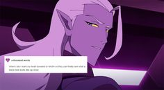 But instead they'll get a lot of fucking love because you know what? Season 5 Lotor is fantastic
