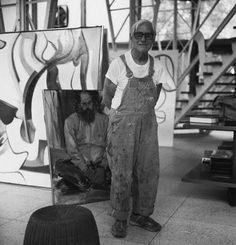 Willem de Kooning (Róterdam1904 - Long Island; 1997); pintor neerlandés nacionalizado estadounidense.  En los años posteriores a la Segunda Guerra Mundial, de Kooning pintó dentro del movimiento del expresionismo abstracto, y dentro del seno de esta tendencia, sigue la action painting o pintura gestual. Otros pintores de este movimiento fueron Jackson Pollock, Mark Rothko y Clyfford Still. Más tarde, de Kooning experimentó con otros movimientos artísticos.
