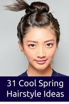 Trendy Long Hair Women's Styles    31 Cool Spring Hairstyle Ideas to Help You Break Out of Your Hair Rut. Roll back small sections at the roots to mimic mini plaits. It's the easy new way to bun and done.    - #HairStyle