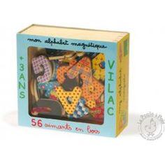 Magnets alphabet en coffret bois - Vilac
