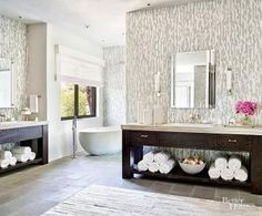Create style and personality in your home with these great tile ideas. Make your home pop with color or add a fun pattern to any space in your home with these unique ways to use tile.