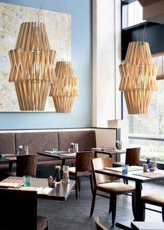 Door de houten structuur geeft deze hanglamp een zeer sfeervol licht!