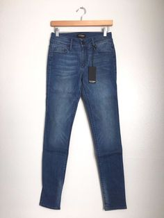 BLACK ORCHID Denim Jude Mid Rise Slim Skinny Jeans Pants Faded Blue 28 $190 #77 #BlackOrchid #SlimSkinny