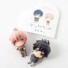 """Fans of the exciting tale of Kurose Riku and Shirotani Tadaomi in the 10 Count / Ten Count manga won't want to miss out on this amazing figure and book set! Kurose and Shirotani come to you as adorable mini figures, standing at approximately 1.6"""" and 1.5"""" respectively. Kurose appears unamused as usual with his stoic expression, while Shirotani has quite the inquisitive look on his face as he spor... #tokyootakumode #book #10_Count"""