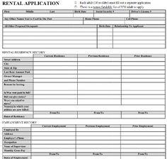 printable sample rental application form pdf form