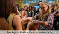 Pop sensation Anastacia with her MRJ bag at our fashion show in L.A.