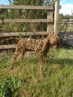 Dog sculpted in willow £150