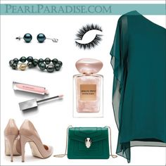 Pearls by elli-argyropoulou on Polyvore featuring polyvore, fashion, style, BCBGMAXAZRIA, Rupert Sanderson, Bulgari, Burberry, Giorgio Armani, clothing and pearljewelry