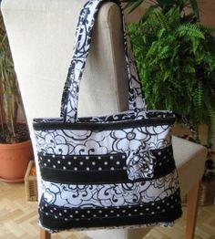 Můj svět šití kabelek a patchworku - Fotoalbum - Kabely a tašky - kabelka černobílá