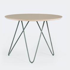 Nowoczesny stolik Zig-Zag R60 szary