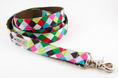 Colorful Cubes Dog Leash by SillyBuddy on Etsy, $39.50