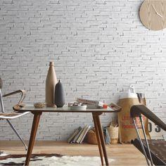Du papier peint pour faire un mur en plaquette de parement ça en jette