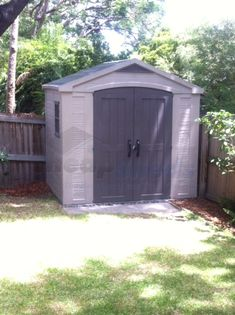 Beautiful Factor Resin Shed in A Brisbane Backyard. We visited Debra to see her shed and deliver her Weber Prize. See more photos- click. Resin Sheds, Plastic Sheds, Cheap Sheds, More Photos, Brisbane, Bali, Backyard, Outdoor Structures, Building