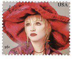 #briefmarke #entworfen #madonna Briefmarke die ich entworfen habe