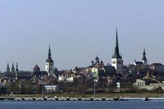 Tallinn from the sea, Estonia