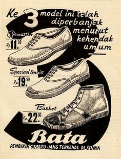 Bata shoes advertisement - 1950 #batashoes #bata120yearsadvertising