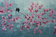 Learn How to Paint Cherry Blossoms. Beginners More than welcome!