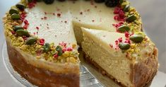 Raw Pistachios, Raw Cashews, Vegan Dinner Recipes, Vegan Dinners, Raw Vegan Cheesecake, Pure Maple Syrup, Coconut Cream, Meals For One, Almond Flour