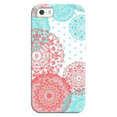 iPhone 6 Plus/6/5/5s/5c Bezel Case - MINT DOTS & MANDALA iphone 5s ($35) ❤ liked on Polyvore featuring accessories, tech accessories, iphone case, apple iphone cases, mint green iphone case, iphone cover case and mint iphone case