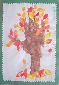 Arm-Print Tree Collage