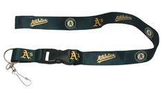 Oakland Athletics Lanyard - Breakaway with Key Ring