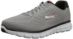 Skechers Sport Mens Synergy Fine Tune Oxford Light GrayBlack 95 M US >>> You can find more details by visiting the image link.