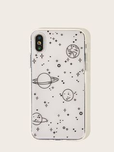 Check out this Starry Sky Pattern iPhone Case on Shein and explore more to meet your fashion needs! Iphone Cases Bling, Diy Iphone Case, Girly Phone Cases, Pretty Iphone Cases, Iphone 3, Iphone Case Covers, Apple Iphone, Amazing Phone Cases, Phone Cases Samsung
