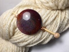 Dragon Agate Shawl Pin ~ Cherry ~ Wire Wrapped