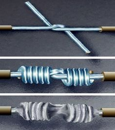 How-To: Splice Wire to NASA Standards. in a NASA-approved Lineman's splice: The conductors shall be pre-tinned. There shall be at least 3 turns around each conductor and the wraps shall be tight with no gaps between adjacent turns. The wraps shall not overlap and the ends of the wrap shall be trimmed flush prior to soldering to prevent protruding ends. Conductors shall not overlap the insulation of the other wire. Solder shall wet all elements of the connection.