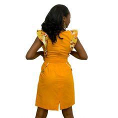 Winged dress - back