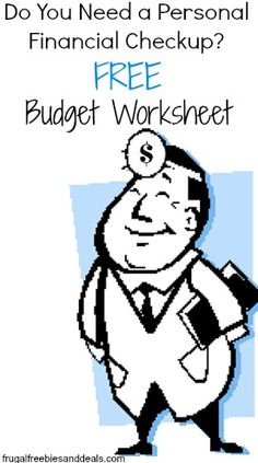 Personal Financial Checkup with FREE Personal Budget Worksheet