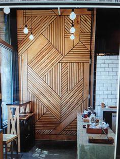 Pieced wood door