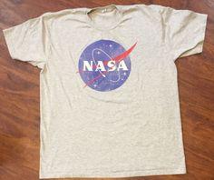 NASA Gray T-Shirt Sz XL Whale By Switcher Brand #WhaleBySwitcher #GraphicTee