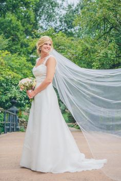 Bride in Cathedral Length Wedding Veil | Photo: Forte Photography & Cinema |