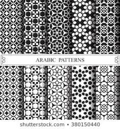 arabic vector pattern,pattern fills, web page background,surface textures Islamic Patterns, Tile Patterns, Fabric Patterns, Print Patterns, Vektor Muster, Geometric Tattoo Pattern, Arabic Pattern, Black And White Lines, Texture