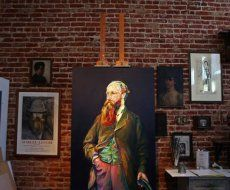 Illusion: A photo of Aaron Smith's studio.    http://illusion.scene360.com/news-community/big-beard/