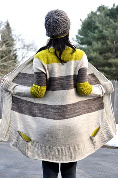 Blue Sand Cardigan pattern by La Maison Rililie #knitting #patterns