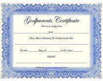 blue free printable godparents certificates