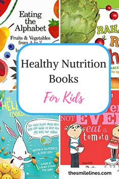 Healthy Nutrition Books for Kids, the smile lines Being a good example of healthy eating is important for your children. Nutrition books and cooking together has been a great way to promote healthy eating! Nutrition Classes, Nutrition Activities, Nutrition Program, Nutrition Plans, Kids Nutrition, Nutrition Tips, Health And Nutrition, Nutrition Store, Nutrition Tracker