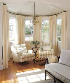 living room bay window treatment ideas - Google Search