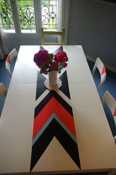 relooking d'une table et chaises Ikea