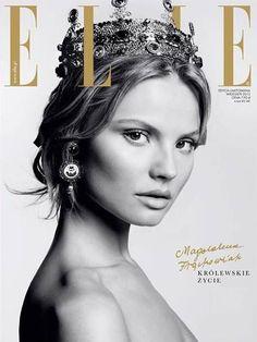 clean skin contoured Elle Magazine [Poland] (September 2013)