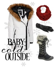 """Baby it's Cold Outside"" by wilsonsleather ❤ liked on Polyvore featuring Wilsons Leather, Muk Luks and Black Rivet"