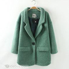 Splendid Wool Long Sleeves New Arrival Overcoat : Tidebuy.com