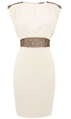 Summer dress lust... Warehouse Embellished Waist Dress